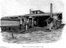 Print of Stillmore Air Line Railway Shops