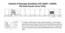 """HO"" Scale 1942 Gondola Decals"
