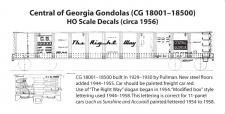 """HO"" Scale 1956 Gondola Decals"